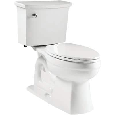 Elmbrook the Complete Solution 2-Piece 1.28 GPF Single Flush Elongated Toilet in White, Seat Included (6-Pack)