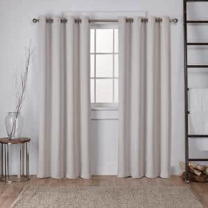 Silver Thermal Grommet Blackout Curtain - 52 in. W x 108 in. L (Set of 2)