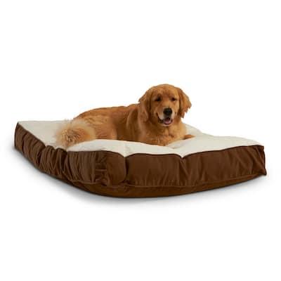 Buster Large Latte Sherpa Dog Bed