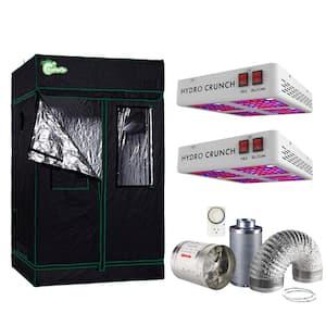 1200-Watt Equivalent Veg/Bloom Full Spectrum LED Plant Grow Light Fixture with Grow Tent and Ventilation System