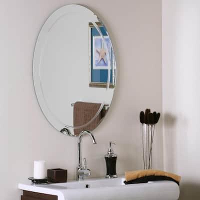 Oval Bathroom Mirrors Bath The Home Depot