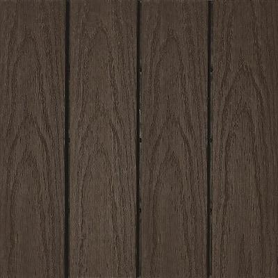 UltraShield Naturale 1 ft. x 1 ft. Quick Deck Outdoor Composite Deck Tile Sample in Spanish Walnut