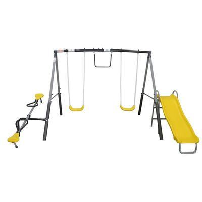 The Titan Outdoor Playground Backyard Kids Toddler Play/Swing Set