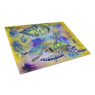 Caroline S Treasures Turtle Tempered Glass Large Heat Resistant Cutting Board 8394lcb The Home Depot