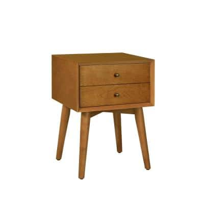 Landon 1-Drawer Acorn Nightstand