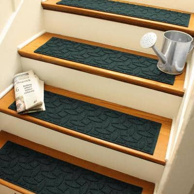 Ellipse 8.5 in. x 30 in. Stair Treads (Set of 4) Evergreen