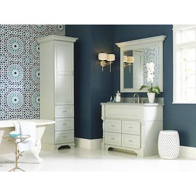 Kingsley 8 in. Widespread 2-Handle High-Arc Bathroom Faucet Trim Kit in Brushed Nickel (Valve Included)