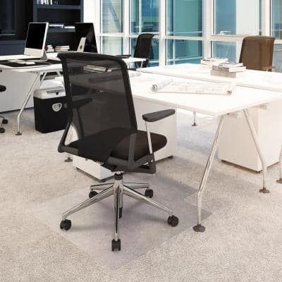 Advantagemat® Vinyl Lipped Chair Mat for Carpets up to 1/4 in. - 36 in. x 48 in.