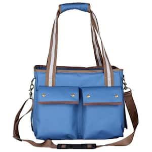 Blue Fashion Canvas Pet Carrier - Medium
