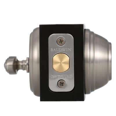 Prestige Alcott Satin Nickel Exterior Entry Knob and Single Cylinder Deadbolt Combo Pack Featuring SmartKey Security
