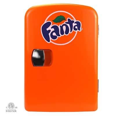 0.14 cu. ft. Fanta Portable Mini Fridge in Orange without Freezer