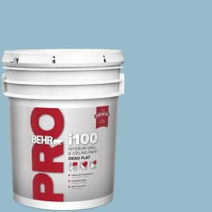 Behr Pro 5 Gal S480 3 Sydney Harbour Dead Flat Interior Paint Pr10505 The Home Depot