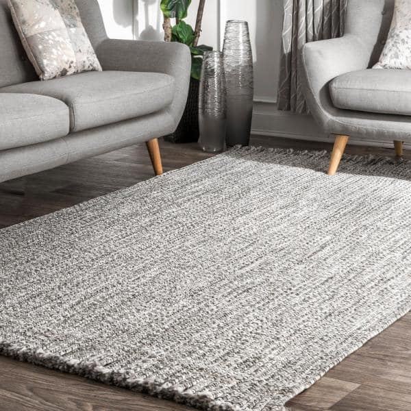 Nuloom Courtney Braided Black And White 9 Ft X 11 Ft Indoor Outdoor Area Rug Hjfv11a 860106 The Home Depot