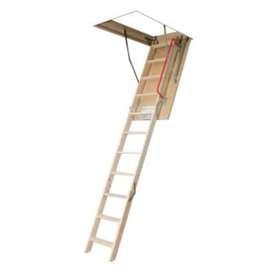 10 ft. 1 in., 54 in. x 30 in. Insulated Wood Attic Ladder with 300 lb. Load Capacity Type IA Duty Rating