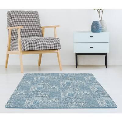 Bazaar Blue 34.2 in. x 68.4 in. Foam Interlocking Floor Tiles (Set of 2 - 44 Pieces - 16.25 sq. ft.)