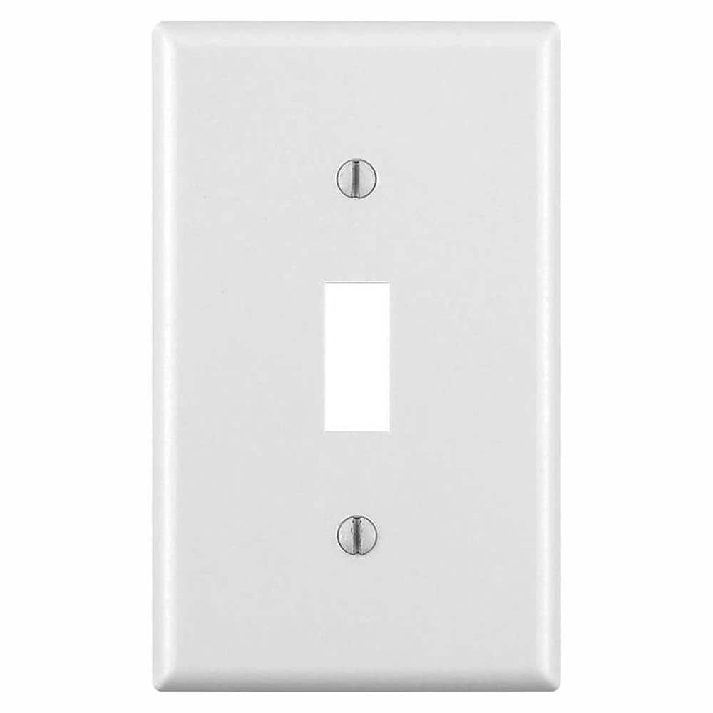 Leviton 1 Gang White Toggle Wall Plate 10 Pack M24 88001 Wmp The Home Depot