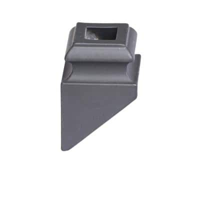 Square Hole 1.3125 in. Aluminum Angled Shoe Baluster Shoe Satin Black