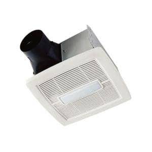 Flex Series 80 CFM Ceiling Roomside Installation Bathroom Exhaust Fan with Light, ENERGY STAR*