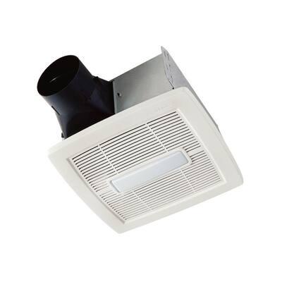 Flex Series 80 CFM Ceiling Roomside Installation Bathroom Exhaust Fan with Light, ENERGY STAR*