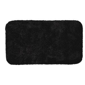 Acclaim Black 17 in. x 24 in. Nylon Machine Washable Bath Mat