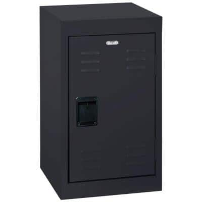 24 in. H x 15 in. W x 15 in. D Single-Tier Welded Steel Storage Locker in Black