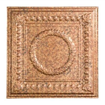 Rosette 2 ft. x 2 ft. Cracked Copper Lay-In Vinyl Ceiling Tile (20 sq. ft.)