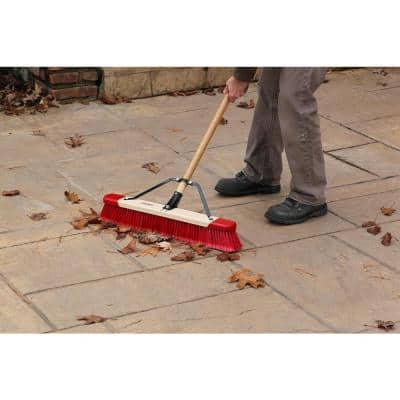 24 in. Easy to Assemble All-Purpose Push Broom