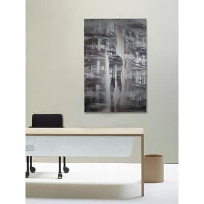 """36 in. H x 24 in. W """"Arches and Columns"""" by Parvez Taj Printed Brushed Aluminum Wall Art"""