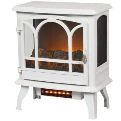 Legion 1,000 sq. ft. Panoramic Electric Stove in White