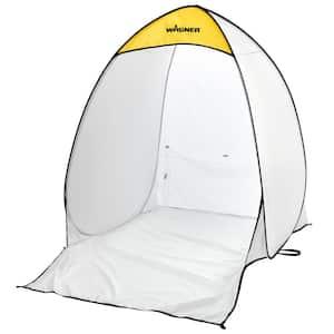 4.7 ft. x 5.6 ft. White Polyester Medium Spray Shelter