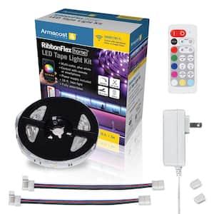 RibbonFlex Home 16 ft. RGB Plus W Smart LED Tape Light Kit