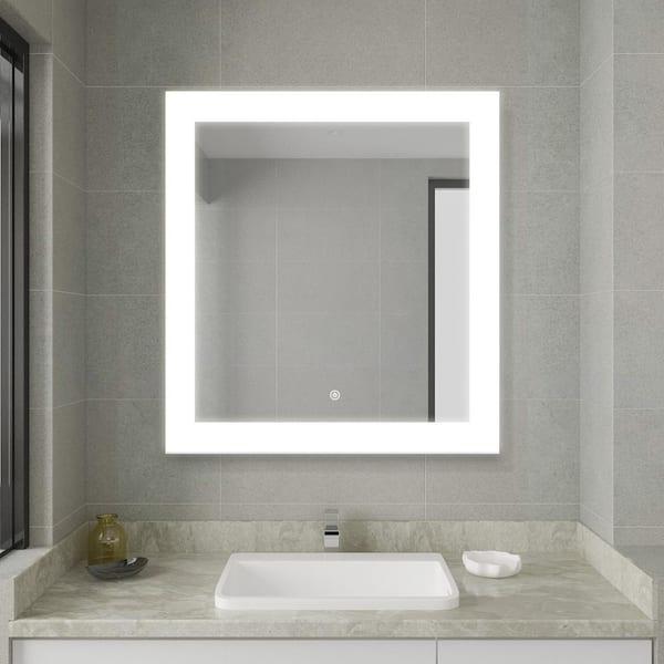Casainc 30 00 In W X 27 50 H, Home Depot Bathroom Mirror With Lights