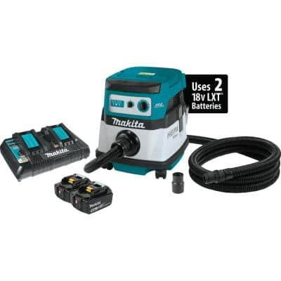 18-Volt X2 LXT Lithium-Ion 36-Volt Brushless Cordless 2.1 Gal. HEPA Filter Dry Dust Extractor Kit 5.0 Ah