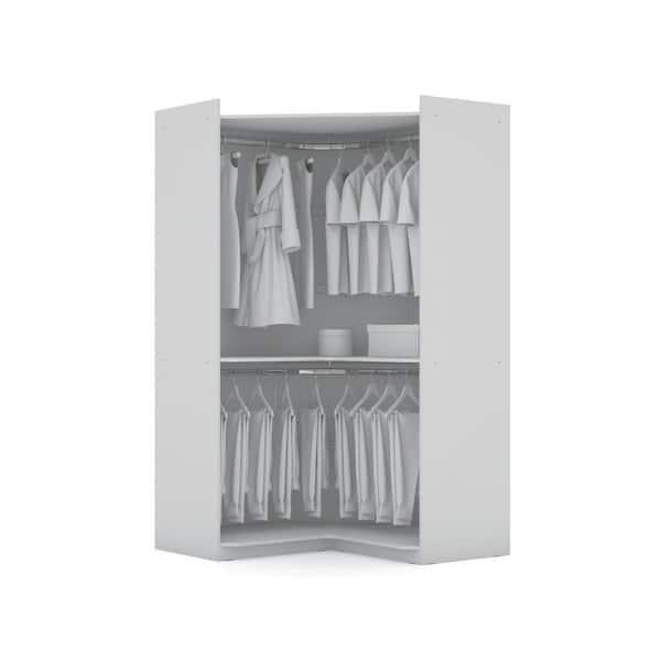 Luxor Ramsey 2 0 White Semi Open 3, Wardrobe Cabinet Home Depot
