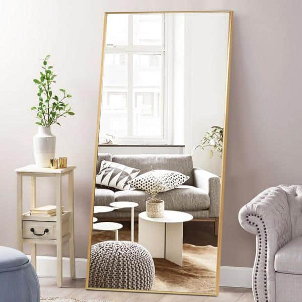 Pexfix 71 In X 32 Modern Rectangle, Free Standing Leaning Mirror