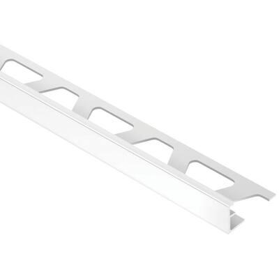 Jolly Light Grey 7/16 in. x 8 ft. 2-1/2 in. PVC Tile Edging Trim
