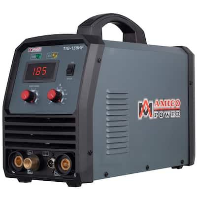 180 Amp TIG Stick Arc DC Inverter Welder with 95-Volt to 260-Volt Wide Voltage Welding, 80% Duty Cycle