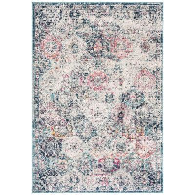 Safavieh Madison Navy Teal 5 Ft X 8 Ft Area Rug Mad611n 5 The Home Depot