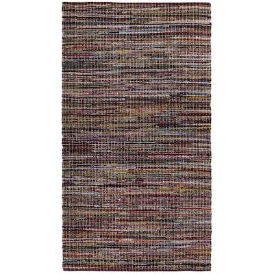 Burgundy Cotton 5 ft. x 8 ft. Area Rag rug