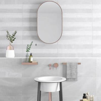 Austral 25 in. x 13 in. White Glazed Porcelain Decorative Wall Tile (2.15 sq. ft. / each)