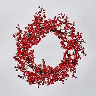 20 in. Snowy Berry Wreath
