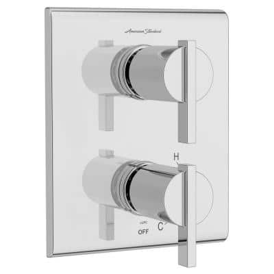 Times Square 2-Handle Wall Mount Diverter Valve Trim Kit in Chrome (Valve Not Included)
