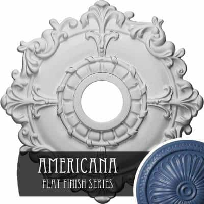 """18"""" x 3-1/2"""" ID x 1-1/2"""" Riley Urethane Ceiling Medallion (Fits Canopies upto 4-5/8""""), Hand-Painted Americana"""