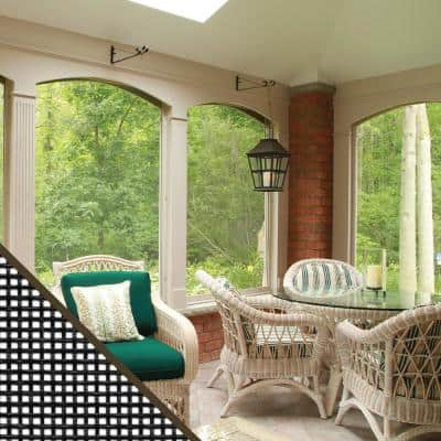 48 in. x 25 ft. Charcoal Fiberglass Small Insect Window Screen