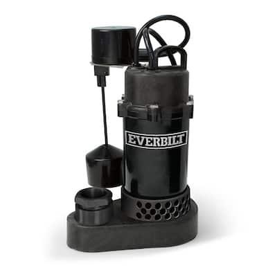 1/4 HP Aluminum Sump Pump Vertical Switch