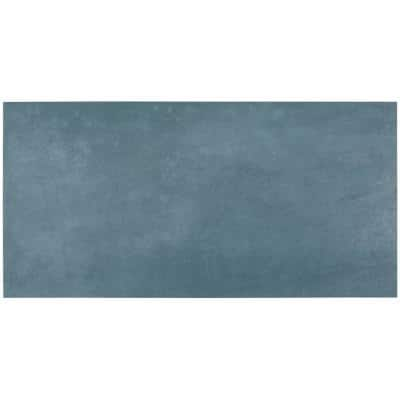 Forge Indigo 8 in. x 0.35 in. Matte Porcelain Floor and Wall Tile Sample