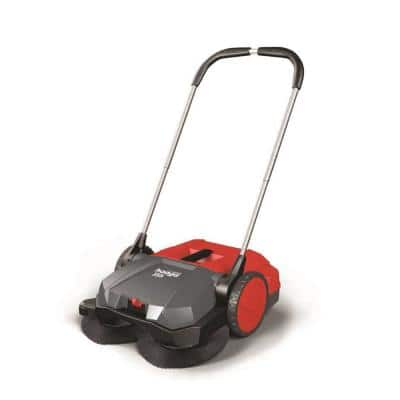 21 in. Manual Push Deluxe Turbo Sweeper with Triple Brush Sweeping System