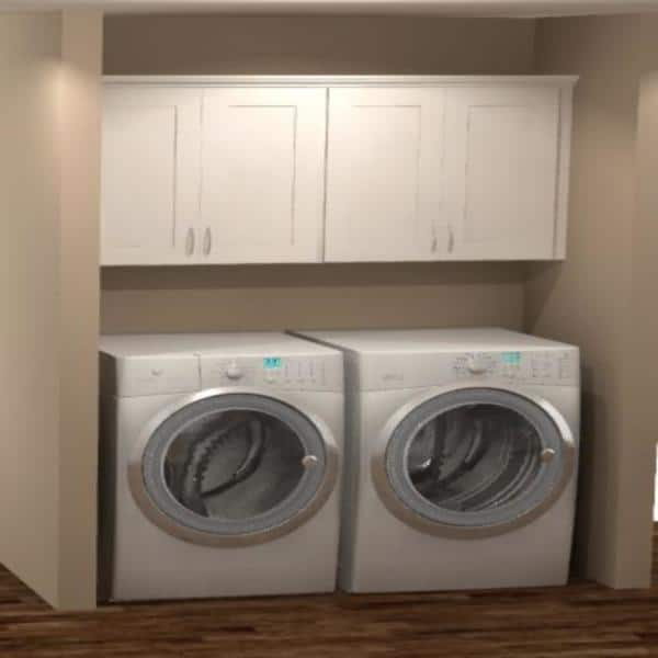 Assembled Wall Kitchen Cabinets, White Wall Cabinets For Laundry Room