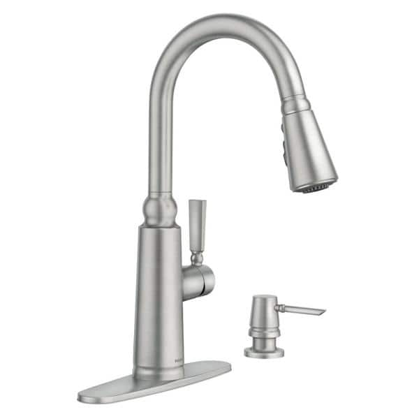 MOEN 87997SRS Coretta Single-Handle Pull-Down Sprayer Kitchen Faucet with Reflex and Power Boost