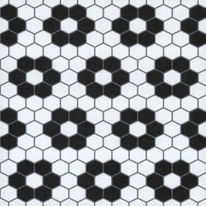 Biscotto Black 12 in. W x 12 in. L Peel and Stick Vinyl Tile Flooring (20 sq. ft./Case)